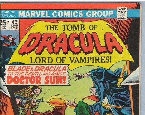 Tomb of Dracula 42 Mar 1976 VG-FI (5.0)