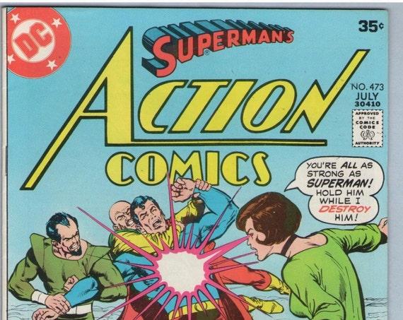 Action Comics 473 Jul 1977 VF+ (8.5)