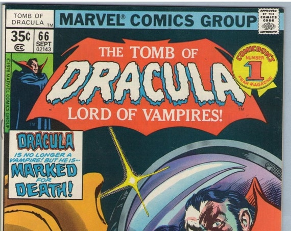 Tomb of Dracula 66 Sep 1978 VF- (7.5)