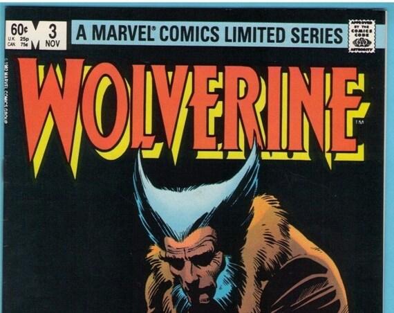 Wolverine Limited series 3 Nov 1982 NM- (9.2)