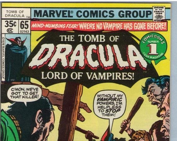 Tomb of Dracula 65 Jul 1978 VF- (7.5)