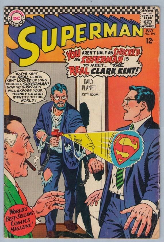 Superman 198 Jul 1967 VG+ (4.5)
