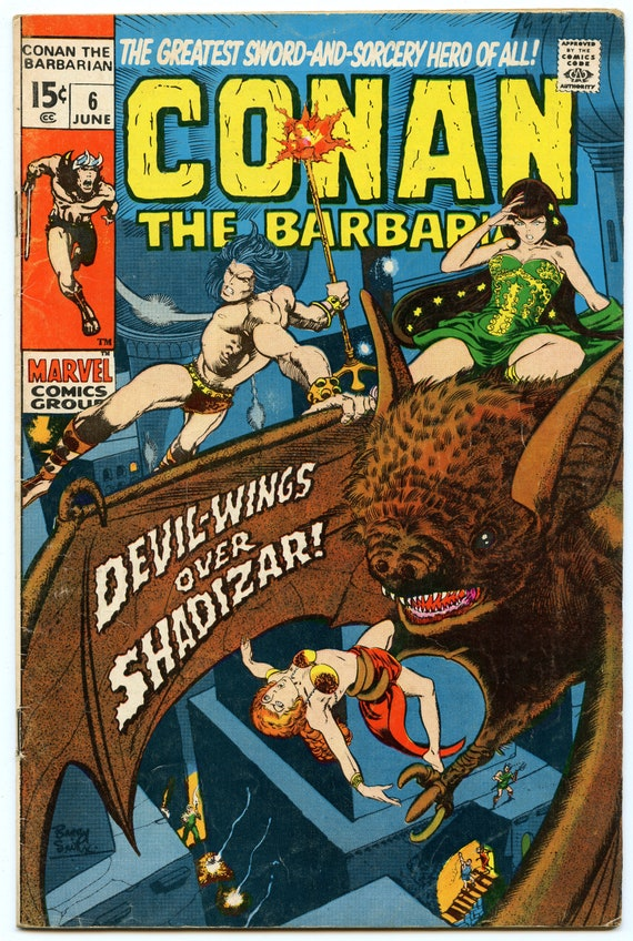 Conan the Barbarian 6 Jun 1971 VG+ (4.5)