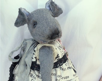 Teddy Bear style Artist  Dressed Dog handmade collectible toy