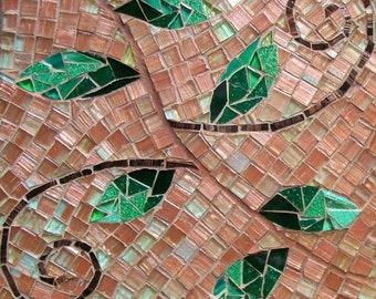 Vine Mosaic Photo Ceramic Tile