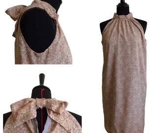 "Short straight dress - ""Daisy dress"" - T36"