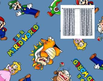 Mario Curtains Etsy