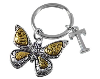 Butterfly Keyring Keychain Faith Hope Key Ring Key Chain Personalised Gifts 3a43dae1d