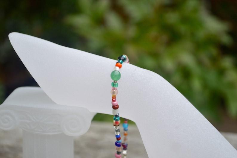 Assorted Beads Toho Czech Mikuyi with Small Teddy Bear UK Free Postage Bracelet Charm Hand Crafted Jewellery