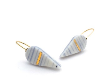 Porcelain Drip Earrings