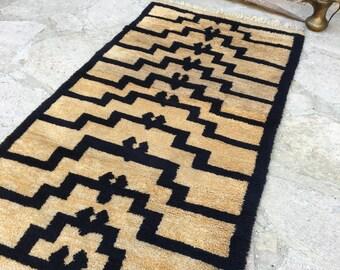 3'6'' x 6'6'' ft / Old Turkish  Shaggy Rug / 1.97 x 1.06 mt/ Shaggy Rug,Long Pile Rug,Turkish Shaggy ,Anatolian Tulu Rug,Ethnic Tulu Rug