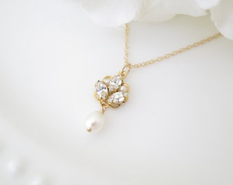 Able Handmade White Pearl Crystal Rhinestone Carved Swan Stone Charm Necklace Jewelry & Watches