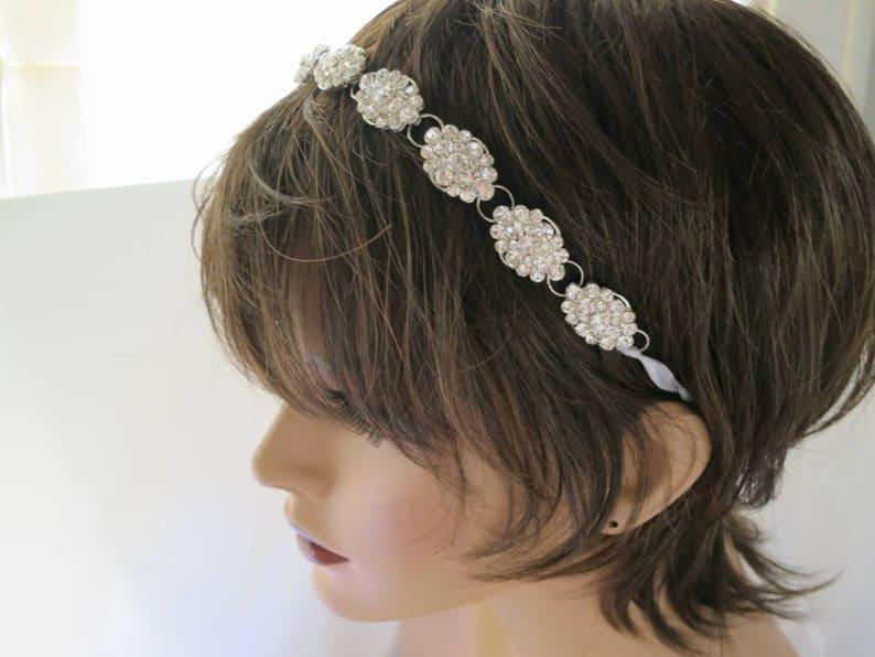 Bridal halo Wedding headpiece Boho bridal hairpiece Wedding image 0