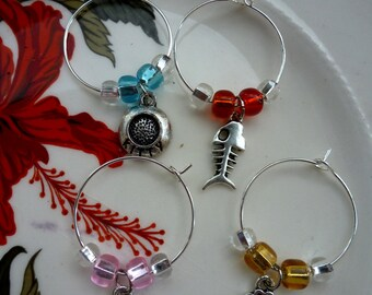 Cat Lover wine charms