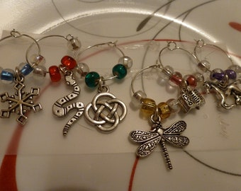 Outlander Inspired Wine Glass Charms