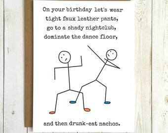 Funny Birthday Card, Birthday Card Funny, Funny Birthday Card Best Friend, Funny Birthday Card Him, Funny Birthday Card Her, Adult Birthday