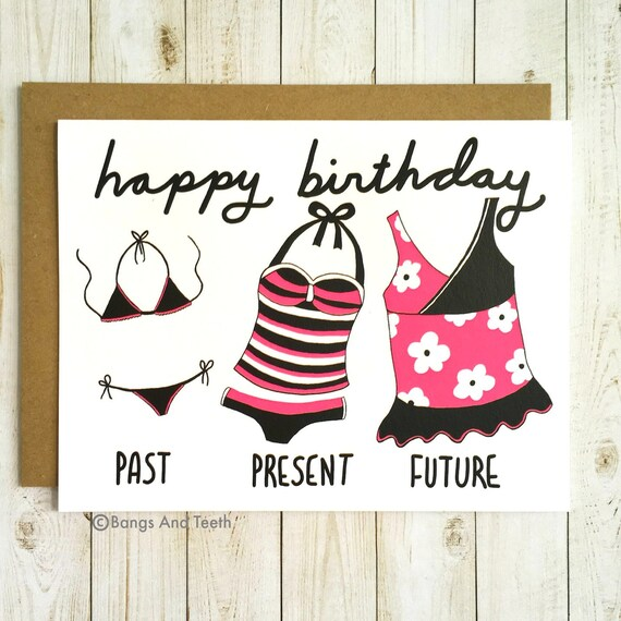 Funny Birthday Card For Her Tankini Girlfriend Sister Friend