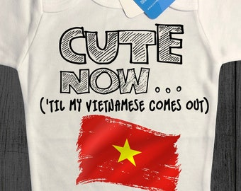 121c14d54f3 ( Til My Vietnamese Comes Out) Gift Country Pride Infant One Piece Jumper  in White Size NB-18M Hanoi