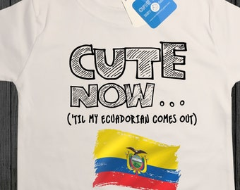 Cute Now Toddler Nicaragua T-Shirt Til My Nicaraguan Comes Out Kids Shirt Top in White 2T-4T