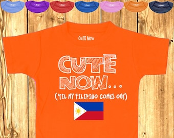 576bd2b7 ('Til My Filipino Comes Out) Gift Philippines Pride Toddler Kids T-shirt  Pick Size and Color 2T-6T flag pride Manila Asia