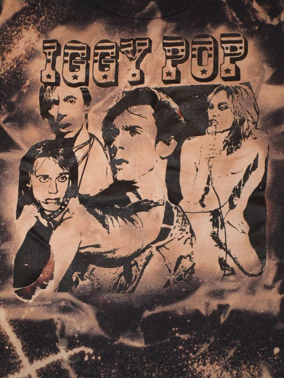 Vintage  Iggy Pop T-Shirt from 1990 XL Punk Rock S