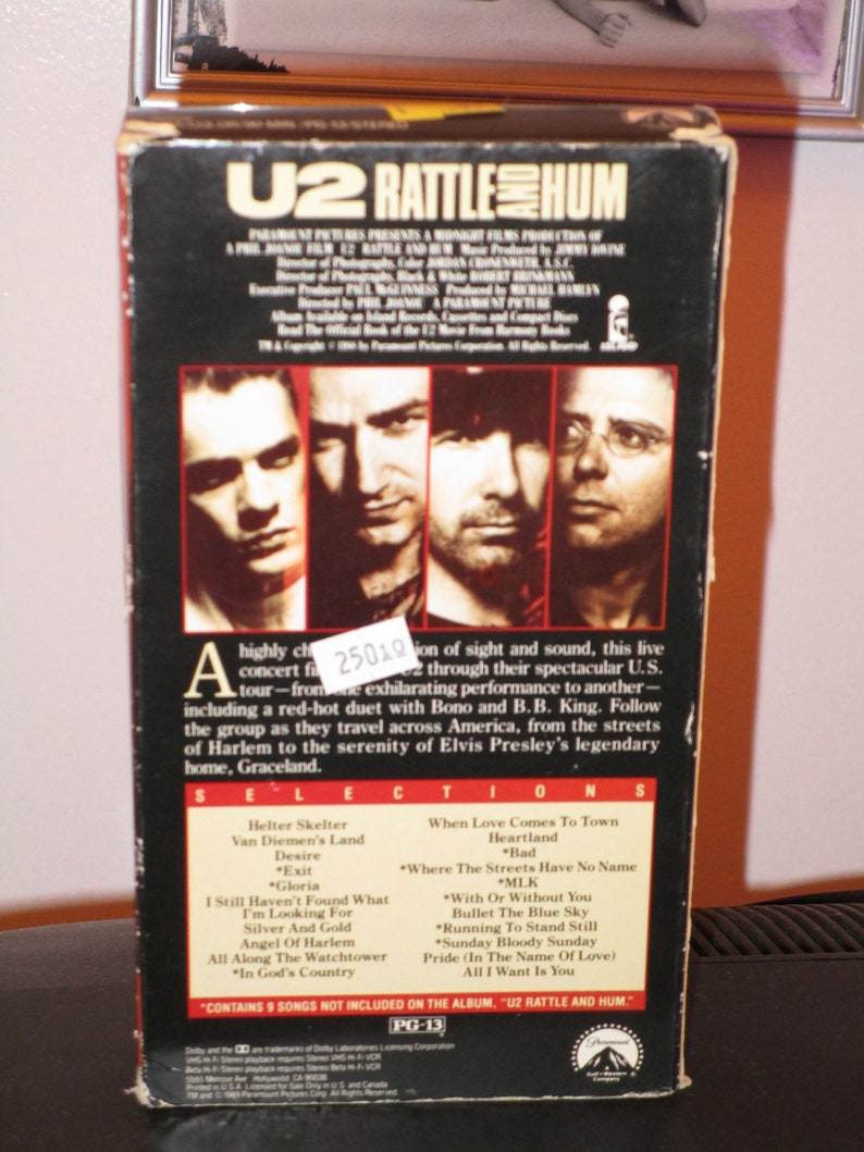U2 Rattle and Hum on VHS contains the songs Sunday Bloody Sunday With or  Without You Pride in the Name of Love With or Without You Desire