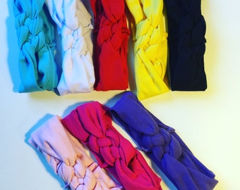 Baby head wraps~twisted head wraps~multi colors