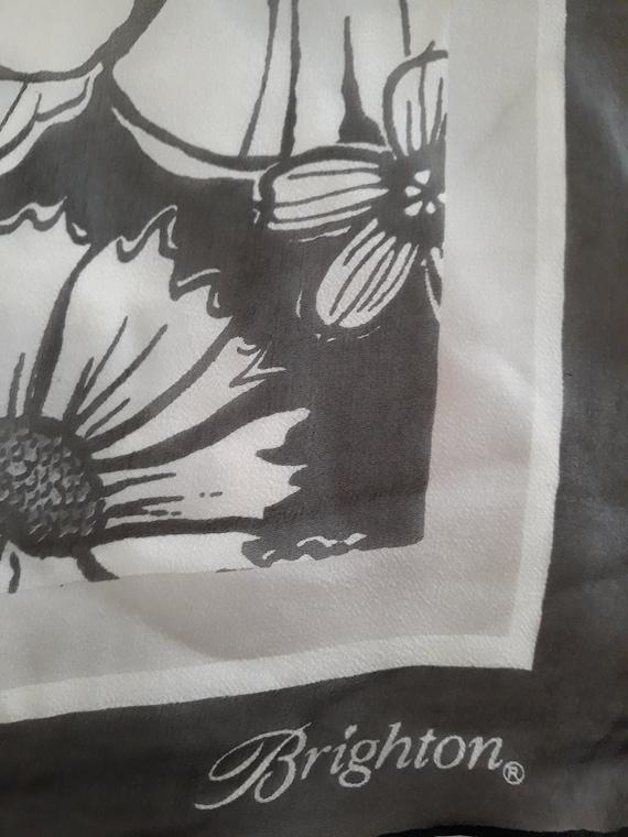 Brighton Silk Chiffon Floral Scarf - image 3