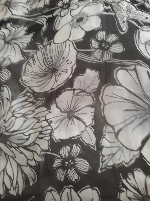 Brighton Silk Chiffon Floral Scarf - image 2