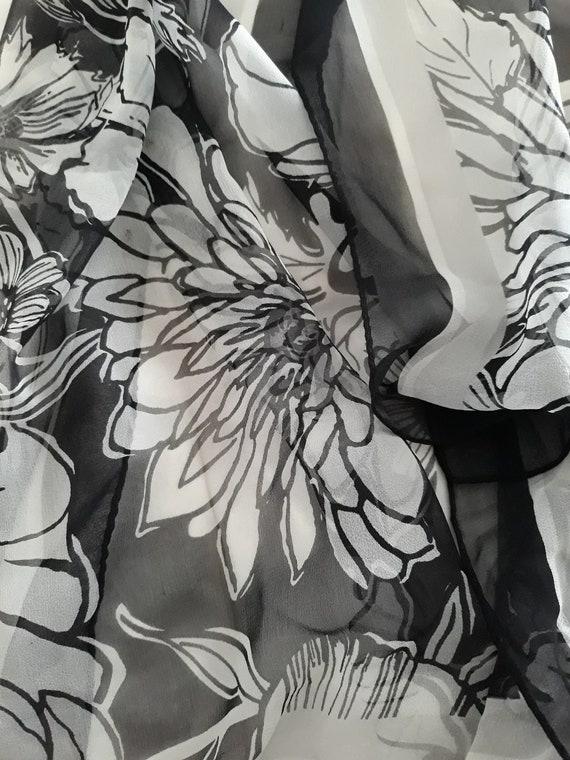 Brighton Silk Chiffon Floral Scarf - image 1