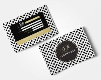 Photographer Gift Certificate Template Black Gold Photography Etsy