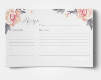 graphic regarding Free Printable Recipe Cards for Bridal Shower called recipe card template bridal shower -