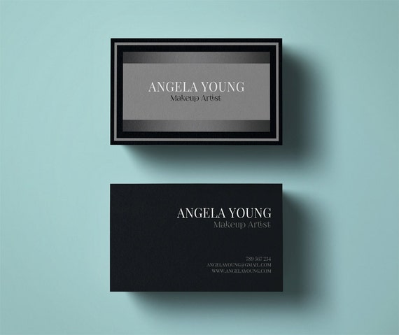 Makeup artist business card template modern business card etsy image 0 wajeb Gallery