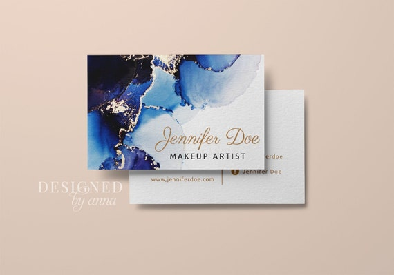 Gold Glitter Business Card Design Printable Business Card Etsy