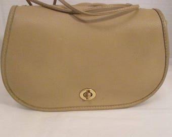 COACH Rare Vintage Bonnie Cashin  Bone Leather Double-Sided Shoulder Bag - Refurbished - GVC