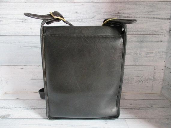"""Vintage Coach /Bonnie Cashin Black Leather """"Pre-C… - image 2"""