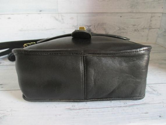 """Vintage Coach /Bonnie Cashin Black Leather """"Pre-C… - image 5"""