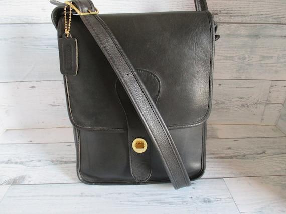 """Vintage Coach /Bonnie Cashin Black Leather """"Pre-C… - image 1"""