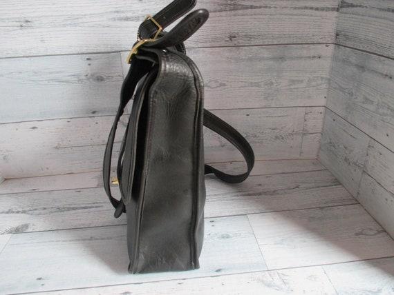 """Vintage Coach /Bonnie Cashin Black Leather """"Pre-C… - image 6"""