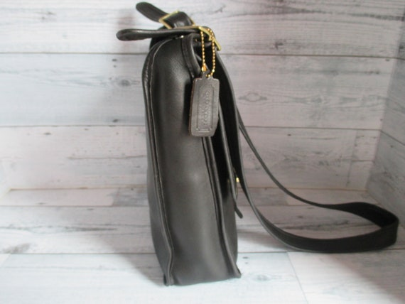 """Vintage Coach /Bonnie Cashin Black Leather """"Pre-C… - image 4"""
