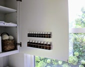 White 5ml Wall Essential Oil Storage, Rack, Holder, Shelf.  Screws into Wall or Cabinet Door. MetalRacks