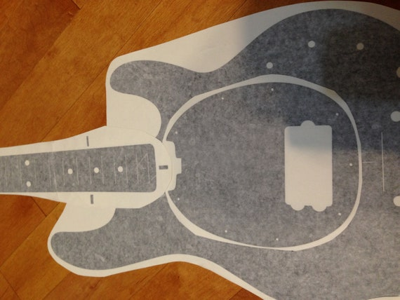 Custom Music Man Humbucker Routing Template