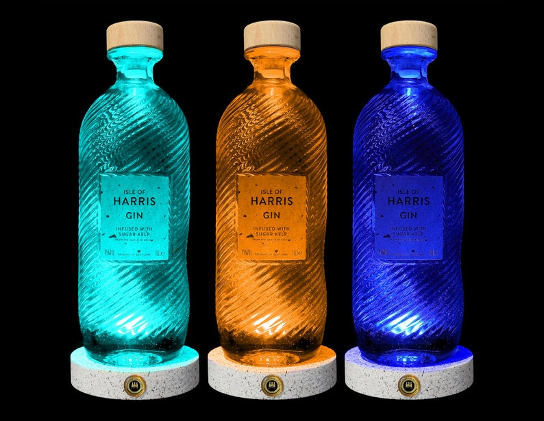 Bar Lighting Scottish Gifts Gin Gifts LED Bottle DiamondLiquorLights Gifts For Men Harris Gin Multicolour LED Bottle Lamp Bar Gifts