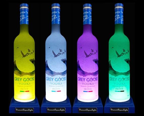 grey goose vodka multicolour led bottle lamp desk lamp gifts etsy