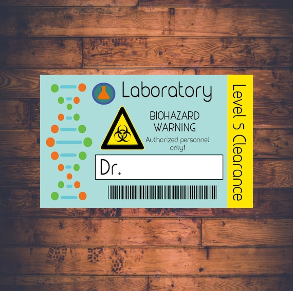 graphic about Printable Name Badges referred to as Science Lab Standing Badge - Printable Customizable Scientist Lab Reputation Tag - Science Birthday Bash - Scientist Lab Identification Badge - Nuts Science