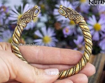 VIKING WOLF BRACELET. Fenrir Bracelet Vikings Jewelry. Viking Wolves Bracelet. Viking Bracelet Pagan Bangle Wristband Norse Nordic
