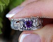 Celtic Cat ring. Celtic ring. Viking Cat ring. Viking jewelry