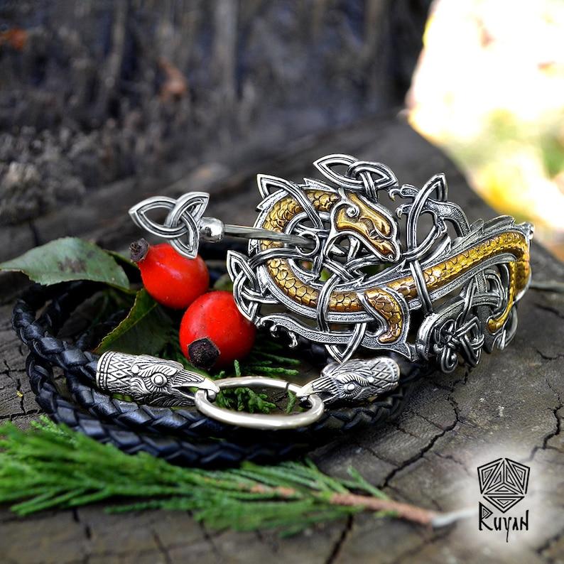 Hair clip Norse Viking Dragon Hairgrip Celtic Dragon Celtic Knot Hairclip J\u00f6rmungandr Dragon.