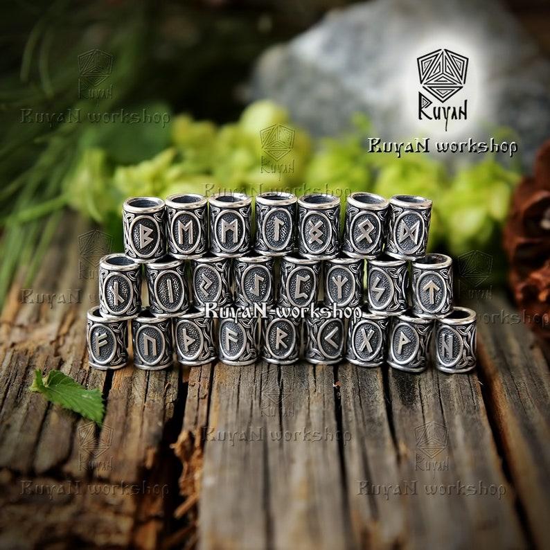 Di Barbe RunesPer CapelliEtsy Perline Viking O 8n0kwOP