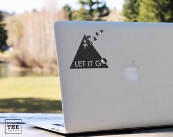 Let it go - Laptop Decal - Laptop Sticker - Car Sticker - Car Decal